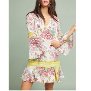 NEWAnthropologie Alyn Silk Tunic Dress